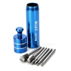 WLXY Tungsten Steel Rotary File Bur Burr Cutter Woodwork Engraving Grinding Bit - Grey + Sapphire
