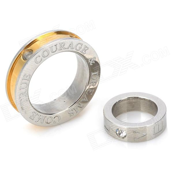 Silver and Golden Magic Ring Stainless Steel Pendant magic props magic ring 2 5cm