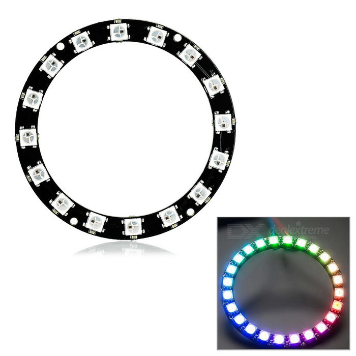 Duinopeak 68mm 16 bits WS2812 RGB 5050 RGB LED Smart anillo para Arduino
