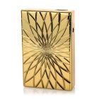 Creative Design Windproof Electric Arc Induction USB Rechargeable Cigarette Lighter - Golden