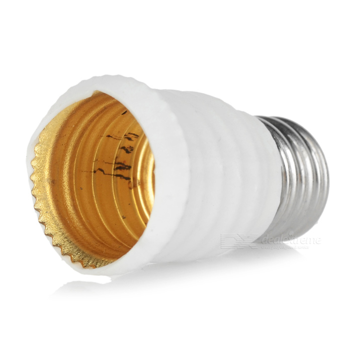 E12 to E14 Light Lamp Bulb Adapter - White + Silvery GreyOther Accessories<br>MaterialPlasticForm  ColorWhite + Silver Grey + Multi-ColoredQuantity1 DX.PCM.Model.AttributeModel.UnitPacking List1 x Adapter<br>