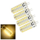 G4 4W LED Lamp Warm White 380lm 48-LED - White + Transparent (4PCS)