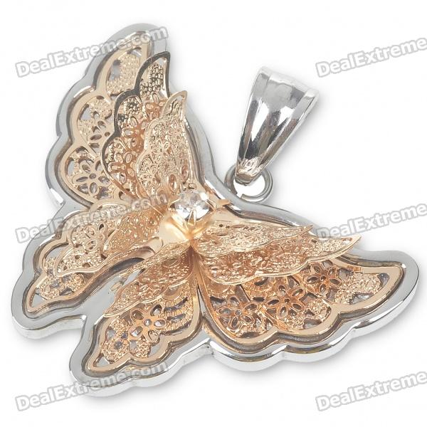 Lovely Butterfly Stainless Steel Pendant (Champagne)