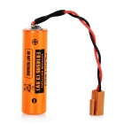AITELY 3.6V Non-chargeable ER14505-K Lithium Battery w/ Plug Connector - Orange + Black