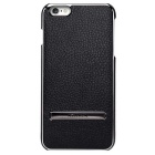 NILLKIN Protective Metal + PU Leather Back Case Cover w/ Holder for IPHONE 6 PLUS - Black