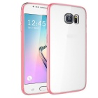 MO.MAT TPU Bumper Frame Case w/ Acrylic Hard Back Clear Cover for Samsung Galaxy S6 - Pink