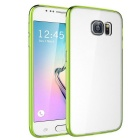 MO.MAT TPU Bumper Frame Case w/ Acrylic Hard Back Clear Cover for Samsung Galaxy S6 - Green
