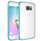 MO.MAT TPU Bumper Frame Case w/ Acrylic Hard Back Clear Cover for Samsung Galaxy S6 - Blue