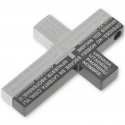 Men's Black Stainless Steel Cross Pendant