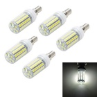 Marsing E14 12W LED Corn Bulb White Light 6500K 1200lm 69-SMD 5050 (AC 220~240V / 5PCS)