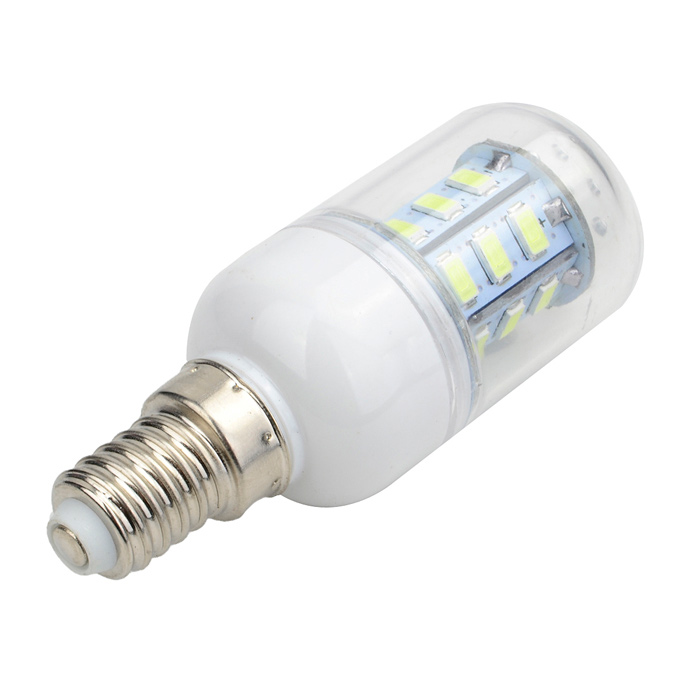 Marsing E14 5W LED Corn Bulbs Bluish White Light 500lm (5PCS)E14<br>Form  ColorWhite + Yellow + Multi-ColoredColor BINBluish WhiteMaterialAluminum + plasticQuantity1 DX.PCM.Model.AttributeModel.UnitPower5WRated VoltageAC 220-240 DX.PCM.Model.AttributeModel.UnitConnector TypeE14Emitter TypeOthers,5730 SMDTotal Emitters24Actual Lumens400~500 DX.PCM.Model.AttributeModel.UnitColor Temperature7000KDimmableNoBeam Angle360 DX.PCM.Model.AttributeModel.UnitCertificationCE, RoHSPacking List5 x LED bulbs<br>