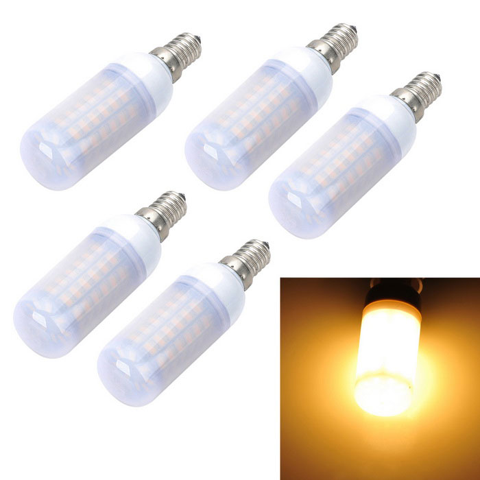 Marsing E14 12W LED Corn Light Warm White 69-SMD Frosted Cover (5PCS)