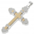 Trendy Men&#039;s Stainless Steel Cross Pendant (Golden)