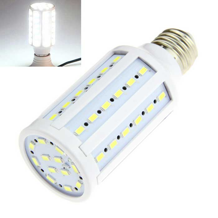 E27 12W LED Bulb Lamp Cold White Light 1500lm 60-SMD 5630 (AC 220V)E27<br>Form  ColorWhiteColor BINCold WhiteMaterialPlastic + aluminumQuantity1 DX.PCM.Model.AttributeModel.UnitPower12WRated VoltageAC 220 DX.PCM.Model.AttributeModel.UnitConnector TypeE27Chip Type5630Emitter TypeLEDTotal Emitters60Theoretical Lumens1500 DX.PCM.Model.AttributeModel.UnitActual Lumens1500 DX.PCM.Model.AttributeModel.UnitColor Temperature6500KDimmableNoBeam Angle360 DX.PCM.Model.AttributeModel.UnitPacking List1 x Corn lamp<br>