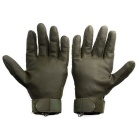 OUMILY Outdoor Tactical Full-Finger Gloves - Army Green (Size M Pair)