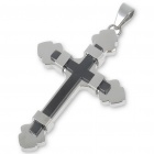 Trendy Men's Stainless Steel Cross Pendant (Titanium)
