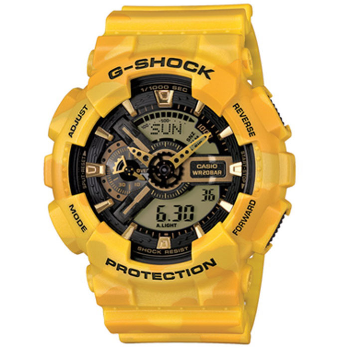 casio g-shock GA-110cm-9AER digital klocka gula