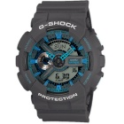 Genuine Casio G-Shock GA-110TS-8A2CR Neon Men's 200-meter Water Resistance Watch - Grey + Blue