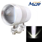 MZ 10W XM-L Motorcycle Headlamp White Light 3-Mode w/ Flashing Light 900lm 6500K - Silver (12~24V)
