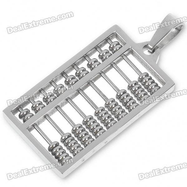 Mini Abacus Stainless Steel Pendant (Silver)