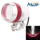 MZ 10W XM-L LED-Motorrad-Scheinwerfer 900lm 6500K White Light 3-Mode w / Blinken - Red (12 ~ 24V)