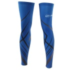 XINTOWN UV Protection Quick-Dry Bike Cycling Leg Warmer Sleeves - Blue (XXL / Pair)