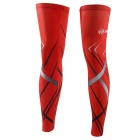 XINTOWN UV Protection Quick-Dry Bike Cycling Leg Warmer Sleeves - Red (XXL / Pair)