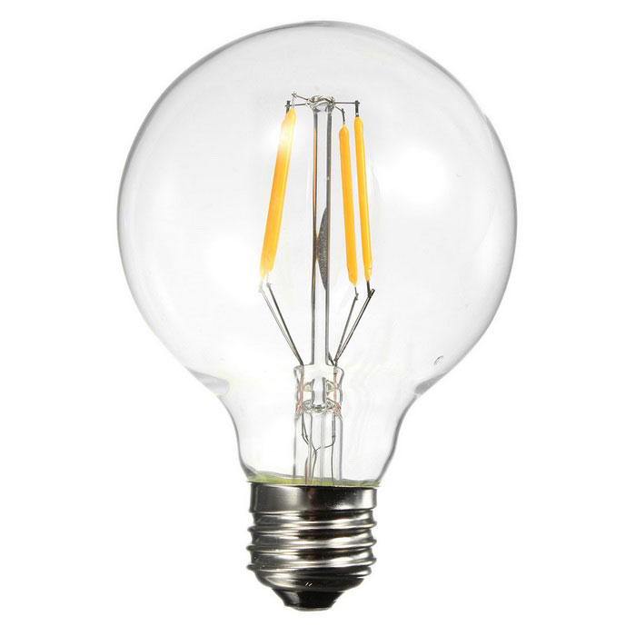 E27 4W 4-LED bulbo amarelo de 360lm 494nm (220 ~ 240V)
