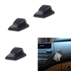 Convenient Mini Self-Adhesive ABS Car Hook Hanger - Black (3PCS)