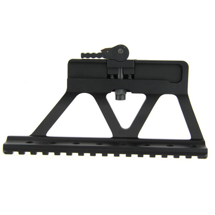 Aluminum Alloy Fast Diaassembling Release Rail for AK - Black