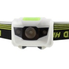 Outdoor Sports White + RED 3-LED 4-Mode Headlight - White + Green