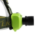 Outdoor Zooming XP-E Q3 LED 3-Mode Cool White Headlight - Grass Green