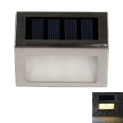 WaLangTing IP44 0.3W 2-LED Outdoor Stairs / Deck / Patio Lamp Warm White Light 3200K 12lm - Silver