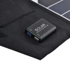 Portable 19.5W Dual USB Foldable Solar Powered Panel Charger - Black