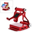 7170mAh Mobile Power Bank w/ Bracket Holder for IPHONE 5 / 5C / 5S - Red