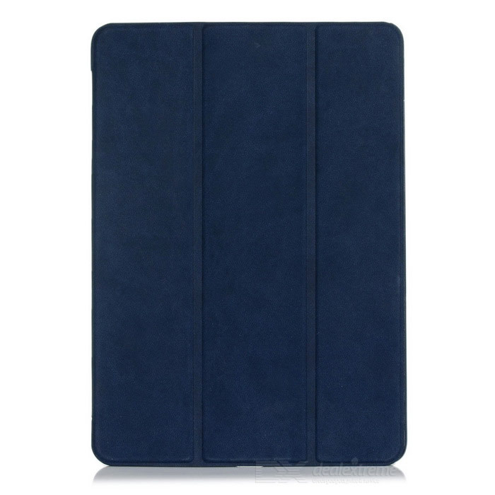 Flip-Open PU Leather Case w/ Stand for IPAD AIR 2 - Deep Blue