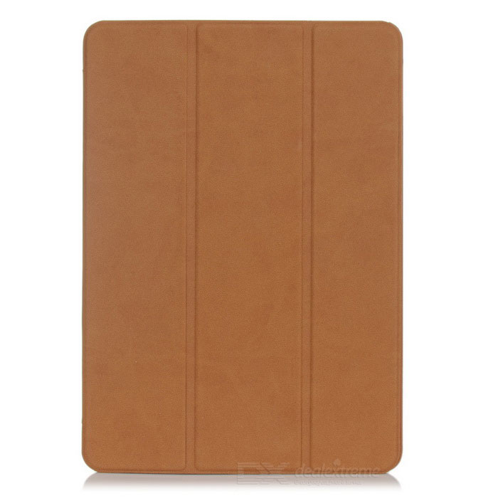 Protective Flip-Open PU Leather Case Cover w/ Auto-Sleep / Stand for IPAD AIR 2 - Brown