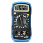 "BSIDE MAS830L 1.8"" 2000 Counts Handheld Manual Digital Multimeter w/ Protective Case - Black + Blue"