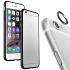 Aluminum Alloy Bumper Frame Case + Lens Guard Ring Sticker for IPHONE 6 PLUS - Black