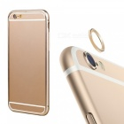 Aluminum Alloy Bumper Frame Case + Lens Guard Ring Sticker for IPHONE 6 PLUS - Golden
