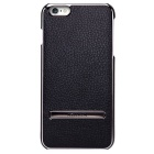 NILLKIN M-JRL Series Metal+PU Back Case w/ Holder for IPHONE 6 - Black