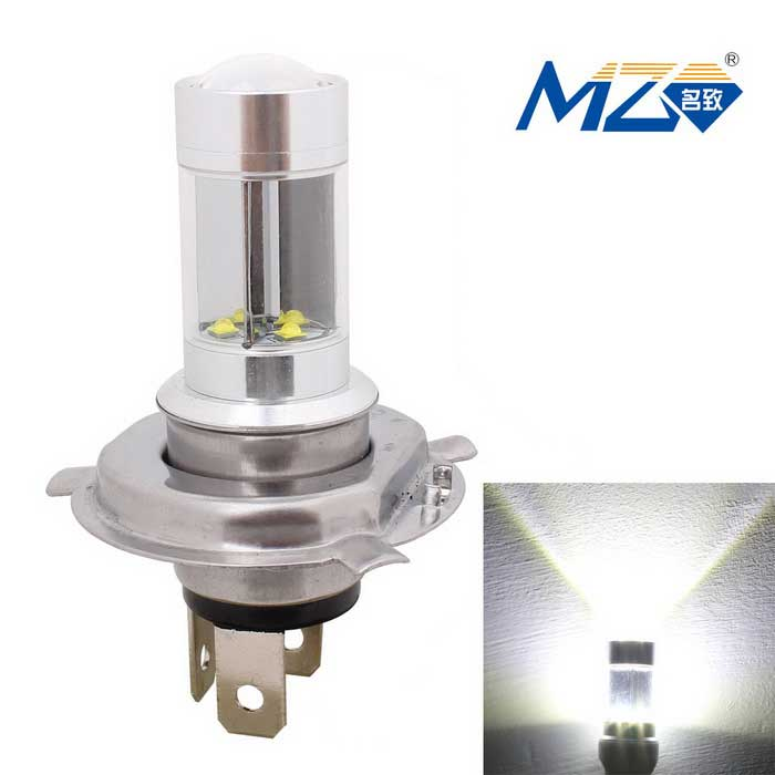MZ H4 40W XT-E 8-LED White Car Head Light Constant Current (12~24V)