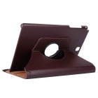 360° Rotatable PU Full Body Case w/ Stand for Samsung T550 - Brown