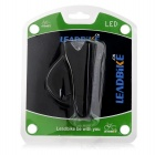 Leadbike A50 2-LED 100lm 2-Mode White Light Bike Lamp - Black