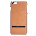 NILLKIN Protective Metal + PU Leather Back Case Cover w/ Holder for IPHONE 6 PLUS - Brown + Silver