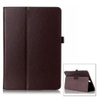 "Protective Flip Open PU Case w/ Stand for Samsung Galaxy Tab A 9.7"" / T550 - Brown"
