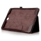Protective Flip Open PU Case w/ Stand for Samsung T550 - Brown