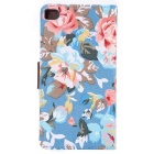 MO.MAT Flowers Pattern Case w/ Stand for Huawei P8 - Blue + Multicolor