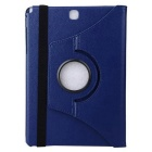 360 ° Rotatable PU Full Body Case w / Stand para Samsung T550 - Deep Blue