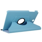360° Rotary PU Full Body Case w/ Stand for Samsung T550 - Light Blue